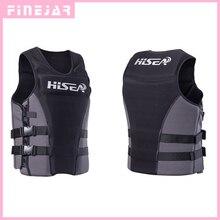 Hisea Professionl плавучести жилет спасательный жилет с Материал неопрена для Для мужчин Для женщин серфинг Моторные лодки рыбалка h2