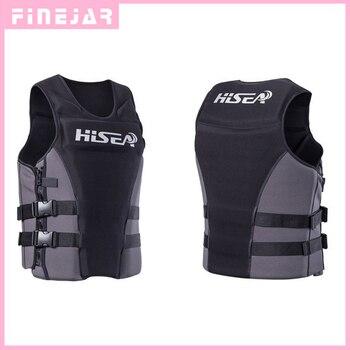 Hisea Professionl Pelampung Life Jacket Rompi dengan Bahan Neoprene untuk Pria Wanita Surfing Perahu Motor Memancing