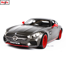 Maisto 1:24 Mercedes-Benz AMG GT modification super toy car model For with Steering wheel control front wheel steering toy
