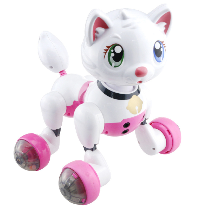 Educational intelligent Voice Control Electric Pet Cat Dog Toy Robot Dog  Robot Cat Baby Kids Toy Electronic Pet Toy With Command