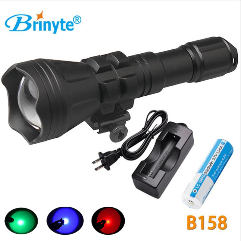 1*18650 Battery+1* Charger CREE XM-L2 U4 LED Aircraft-Grade AL-6061-T6 Aluminum Material Rifle Lights Weapon Light Flashlight led tactical flashlight 501b cree xm l2 t6 torch hunting rifle light led night light lighting 18650 battery charger box