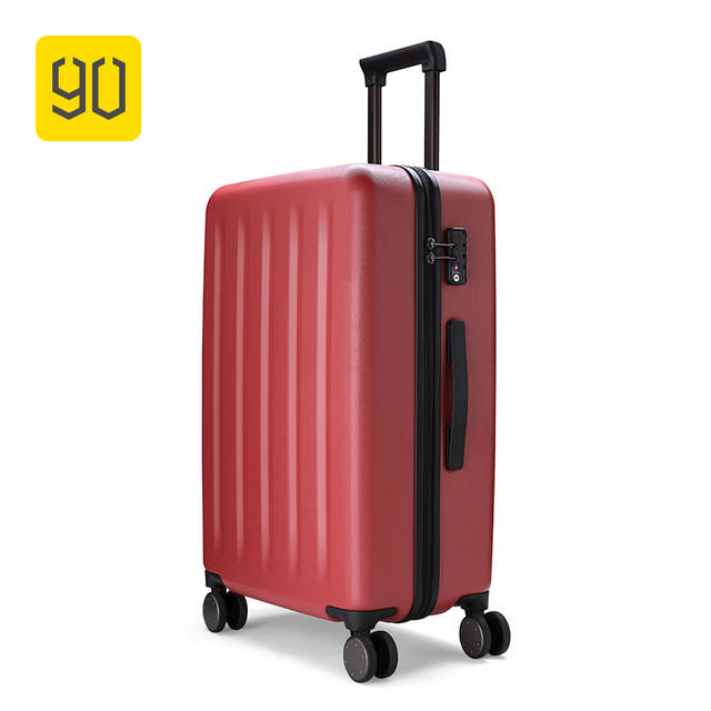 8933d34a97a2 US $127.99 20% OFF Xiaomi 90FUN 100% PC Suitcase Colorful Rolling Luggage  Lightweight Carry on Spinner Wheel Travel TSA lock women men 20 24  28inch-in ...