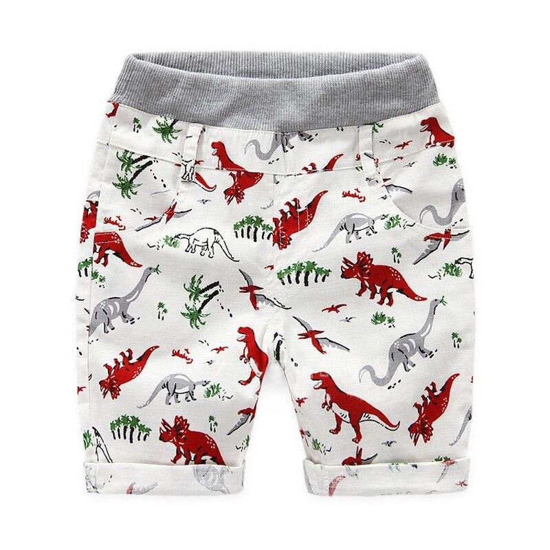 קיץ Loose בני 2 ~ 7 גילים ילדים בני מכנסיים ילדי החוף ללבוש דינוזאור נערי דפוס תחתון אופי מכנסיים ספורט חדש