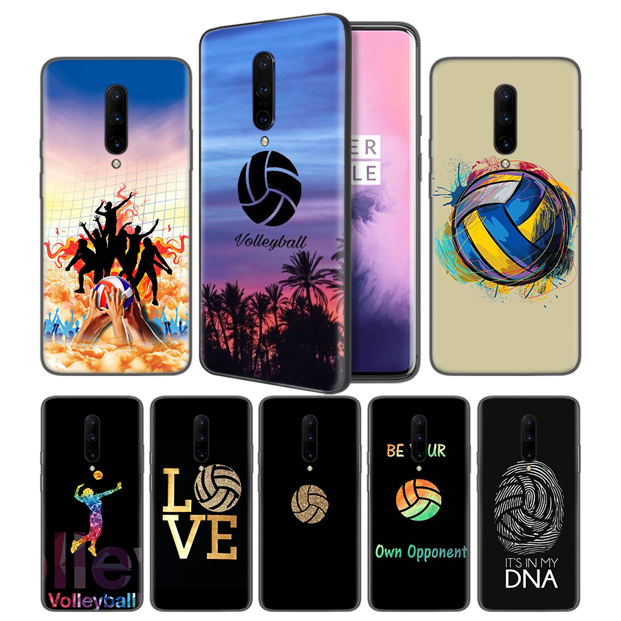 Volleyball Sports Soft Black Silicone Case Cover for font b OnePlus b font 6 6T font