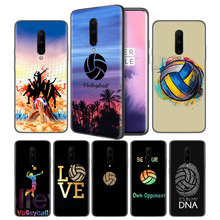 Volleyball Sports Soft Black Silicone Case Cover for OnePlus 6 6T 7 Pro 5G Ultra-thin TPU Phone Back Protective