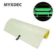 Carro verde azul brilho luminoso vinil envoltório filme cola pvc adesivo com bolha livre de alta energia fotoluminescente brilho no escuro