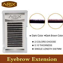 New Arrival 2016 Fashion 1pack Colorful Eyebrow Extension Individual Mink Eyebrows Artificial Fake False Eyebrows A-RIX Brand