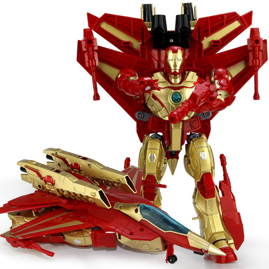 JINJIANG Transformation Avengers2 Super Hero Iron Man Hulkbuster Armor Joint Movable Mark Pvc Action Figure Collection Model Toy superhero avengers collection act figures 28cm super hero movable spuerman pvc action figure toy dolls model