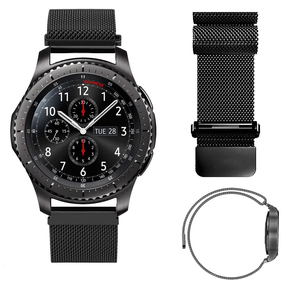 22MM Magnetic band Loop For Samsung Gear S3 Classic S3 Frontier Watch Band Bracelet Strap Stainless Steel  Band black sliver crested sport silicone strap for samsung gear s3 classic frontier replacement rubber band watch strap for samsung gear s3