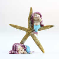 3D Silicone Cake Mold Mermaid and Starfish Fondant Decorating Tools DIY Handmade Soap Chocolate Candy Mould