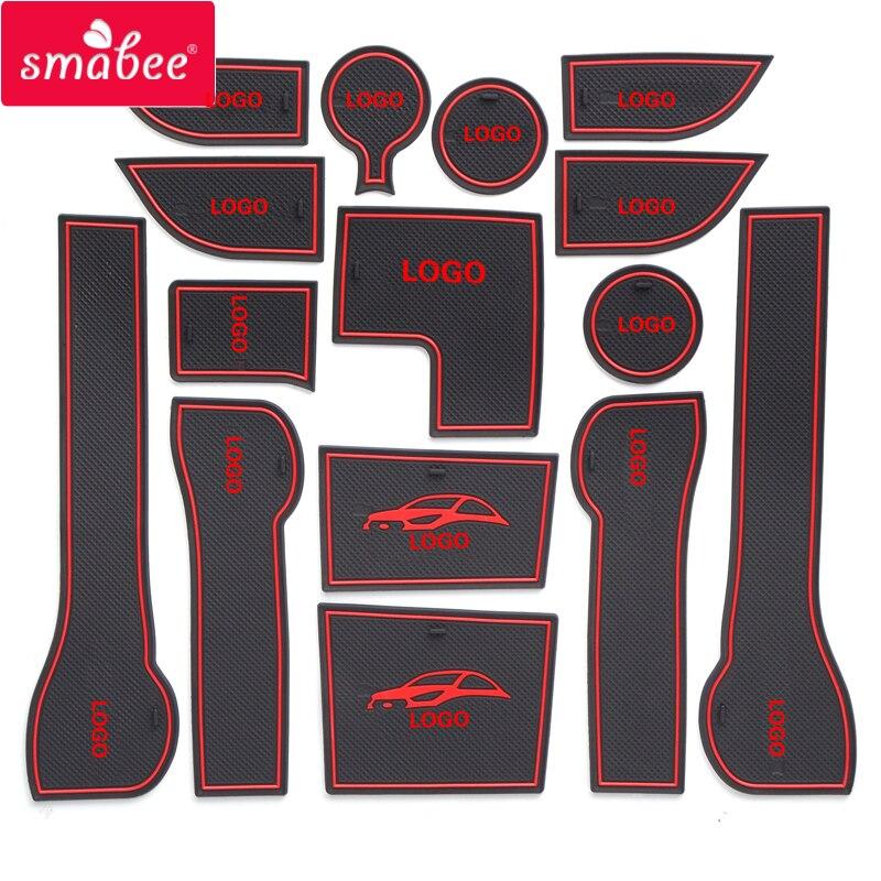 smabee Gate slot mat For Hyundai 2017 Solaris 2 font b Interior b font Door Pad