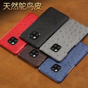 Image 5 - אמיתי יען עור טלפון מקרה עבור Huawei P30 לייט P20 P40 פרו mate 20 Nova 5t P40 Lite Mate 20 lite P20 Lite P30 Pro Y9 Y7 P SMART 2019 לייט Y7 יוקרה חזרה כיסוי עבור כבוד 8X 20 פרו 10 20i