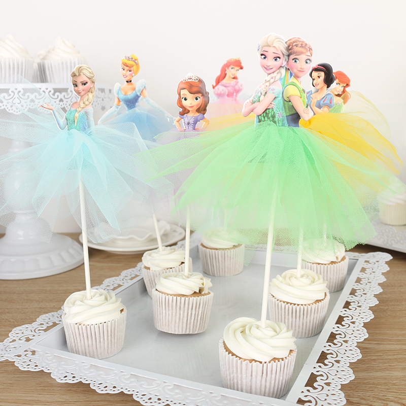 Amazing Whole Sale 10 X Handmade Princess Cupcake Toppers Girls Birthday Personalised Birthday Cards Veneteletsinfo