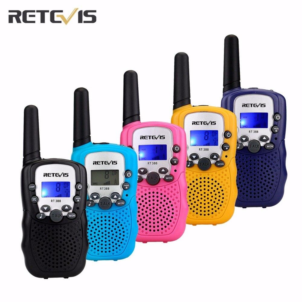1 pz 5 Colori Mini Walkie Talkie 0.5 w UHF Europa Frequenza 8CH 446 mhz Display LCD Portatile Radio Retevis RT388 Giocattolo Radio J7027