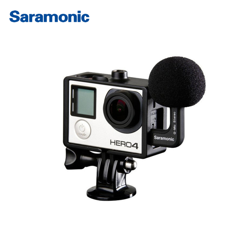 Saramonic G-Mic - Profesional Stereo Ball Microphone for GoPro HERO3, HERO3+ & HERO4 Hero 5 smj g 649 bodyboard surfboard surfing fixed bracket for gopro hero3 3 sj4000 black
