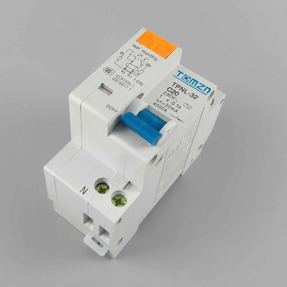 TPNL DPNL 230V 1P+N Residual current Circuit breaker with over and short current  Leakage protection RCBO MCB 3