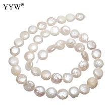Hodowlane perła baroku słodkowodne koraliki bryłki naturalne biały 8 9mm sprzedawana za około 15.3 Cal Strand