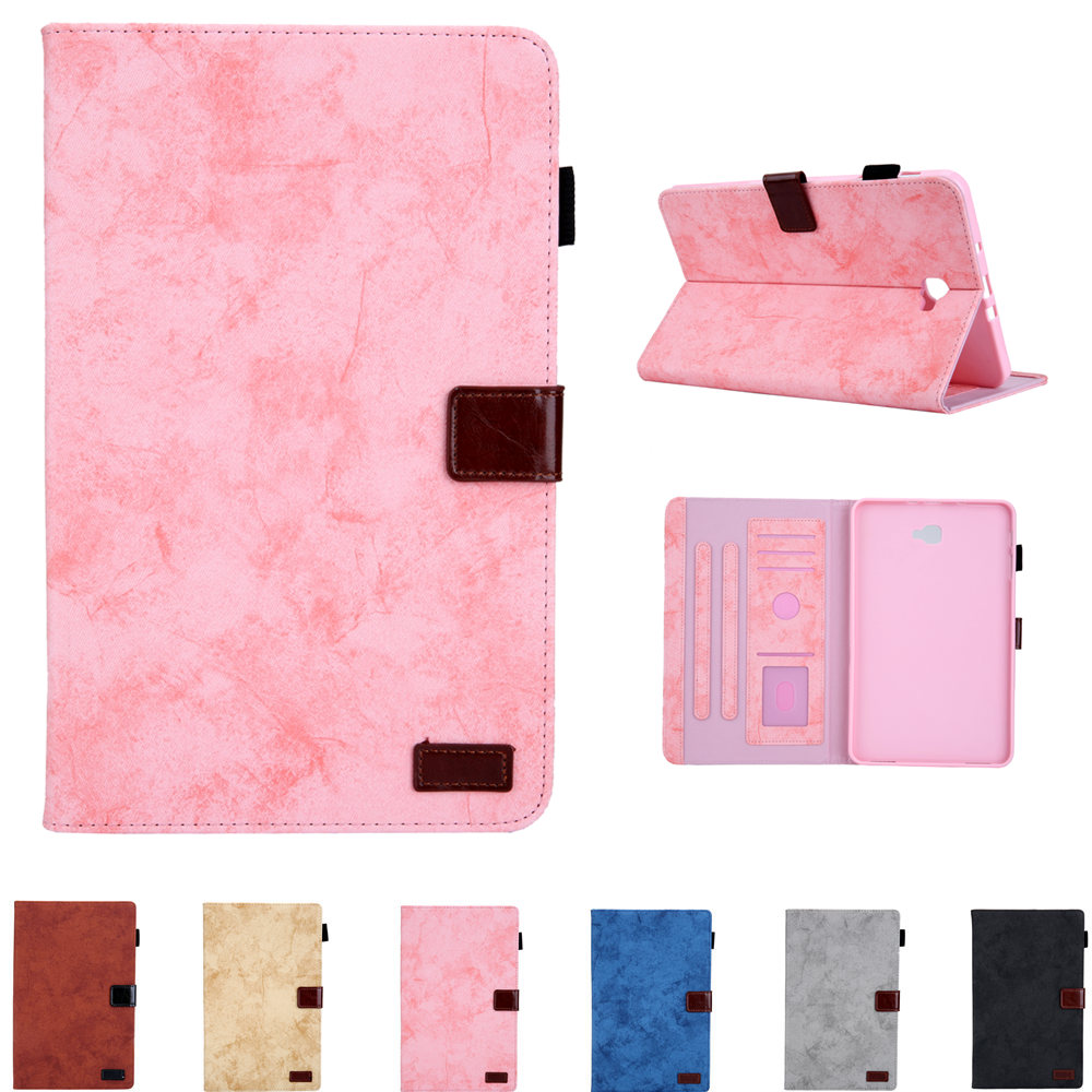 Sleeve Bags Case for Samsung Galaxy Tab A6 10.1 2016 SM-T580 SM-<font><b>T585</b></font> Folding PU Leather Cover for Tab A 10.1 T580 <font><b>T585</b></font> Tablet image
