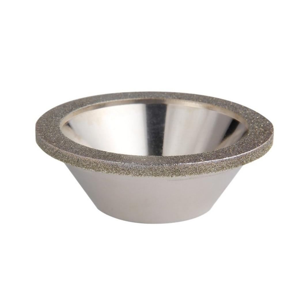 Cercles de meulage de tasse de meule de meulage de diamant de 125mm pour le diamètre extérieur d'accessoires de meuleuse d'affûteuse d'outil de coupeur de fraise d'acier de tungstène