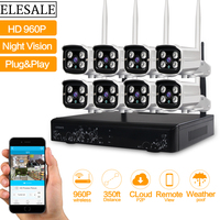 HD 960P Outdoor Surveillance Camera System 8CH NVR Kit CCTV Home Security Camera System Wireless WIFI