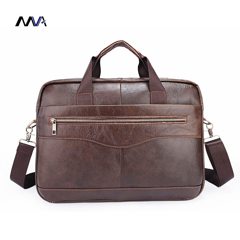 MVA Genuine Leather Men Bags New Man Briefcase Laptop Handbag Messenger Bag Men's Business Bags Male Crossbody Handbags xiyuan genuine leather handbag men messenger bags male briefcase handbags man laptop bags portfolio shoulder crossbody bag brown