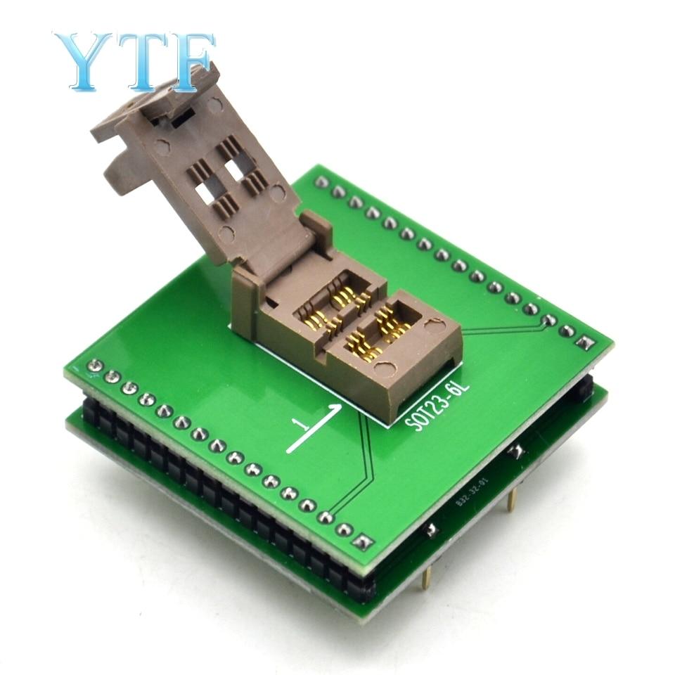 SOT23-3 SOT23-5 SOT23-6 IC Burner Holder Adapter Plug-in Chip Test Stand