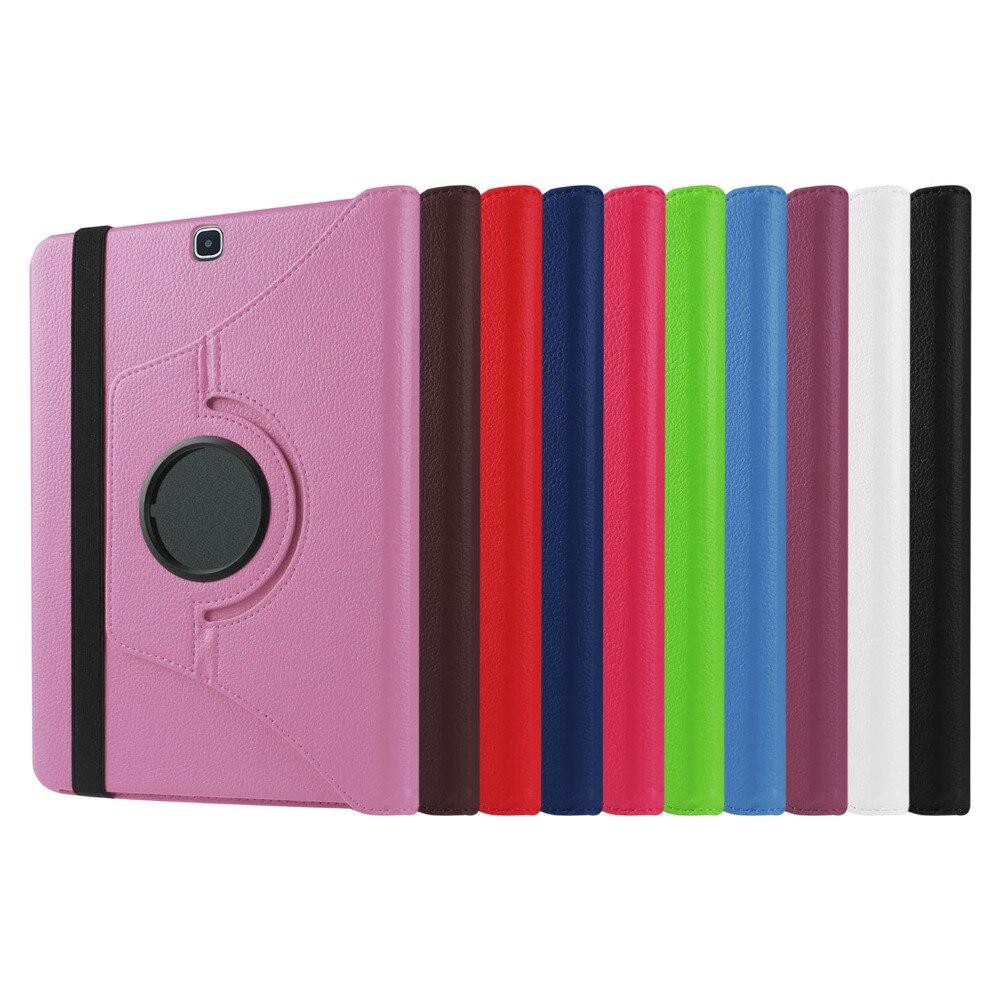 Pour Samsung Galaxy Case Cover-Premium En Cuir Végétalien 360 degré Pivotant Stand pour Tab S2 9.7 Tablet SM-T815 (Sommeil/Réveil de Fonction)