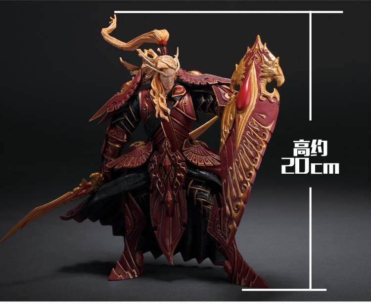 WOW BLOOD ELF PALADIN: QUIN'THALAN SUNFIRE Action Figure Collectable Model Toy Free shipping GS014 hot wow dc7 fall of the lich king arthas action figure model toy 21cm free shipping ka0447