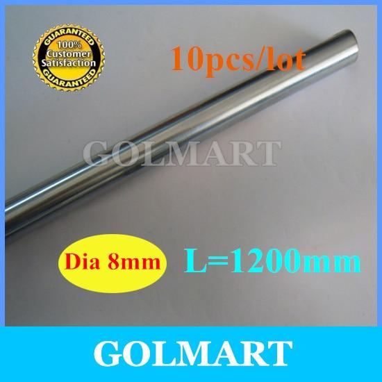 Линейный вал шт. 10 шт. диаметр 8 мм-L мм 1200 мм хромированный прецизионный закаленный стержень линейный вал движения