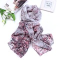 Fashion Rural Style Plum Flower Printed Scarf Women Long Scarves Beach Shawl Multifunction Soft Chiffon Scarf Super Value Gift