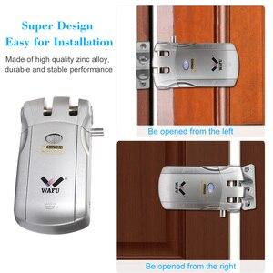 Image 3 - WAFU 010U اللاسلكية الأمن غير مرئية دخول بدون مفتاح الباب قفل ذكي iOS أندرويد APP فتح مع 4 مفاتيح عن بعد