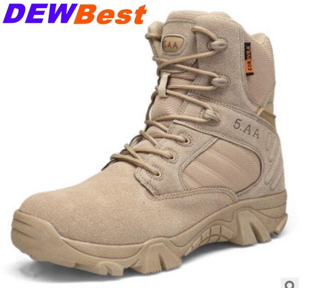 Erkekler askeri taktik botları Kış Deri Siyah Özel Kuvvet Çöl Ayak Bileği Savaş Botları Güvenlik iş ayakkabısı asker botu
