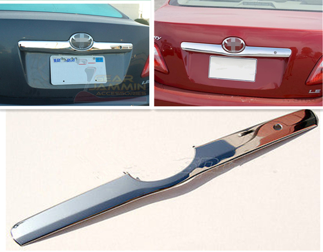 For 2007 2008 2009 2010 2017 Toyota Camry Chrome Tailgate Trunk Hatch Trim Bezel Cover Accent
