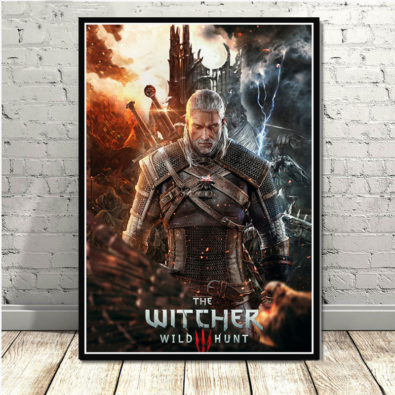 Canvas Painting Home Decor Pictures The Witcher 3 Hunting Wild Game Wall Art HD Printed Modular Nordic Style Poster Living Room