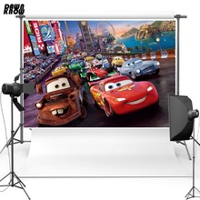 DAWNKNOW Vinyl Photography Background For Children Cartoon Car Polyester Backdrops Baby Photo Studio G091