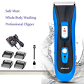 Profesional de grado RESISTENTE AL agua IPX7 seguro Mudos Clippers Hair Trimmer adultos bebé Eléctrica Máquina de Corte de Pelo