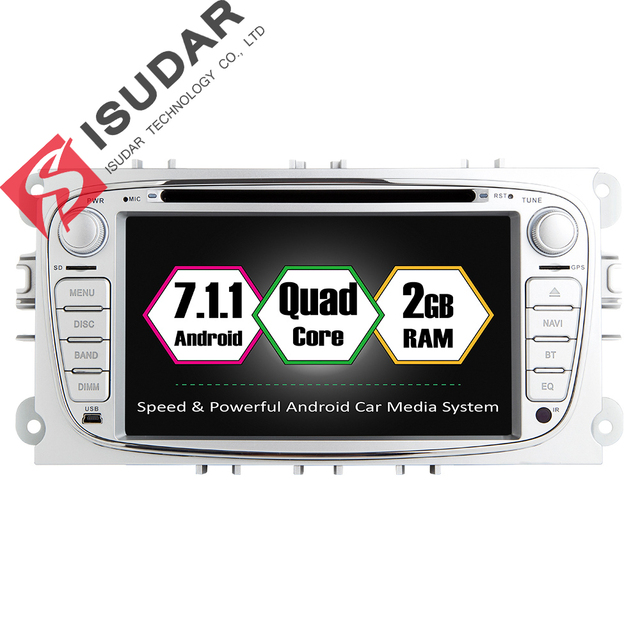 Оптовые продажи! Два din 7 дюймов dvd-плеер автомобиля Android 7.1 для Ford/Focus/S-MAX/Mondeo/C-MAX/ Galaxy WIFI GPS НАВИГАЦИЯ RADIO USB