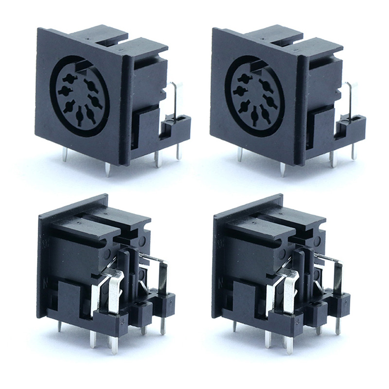 1pc S terminals Micro Power Socket <font><b>7PIN</b></font> <font><b>DIN</b></font> Jack Video Connector PCB Panel Mount Female Connector image