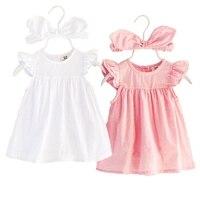 Nuevo vestido del bebé del verano mameluco 1 cumpleaños diadema Rosa tutú del partido niño niños ropa traje de diseñador
