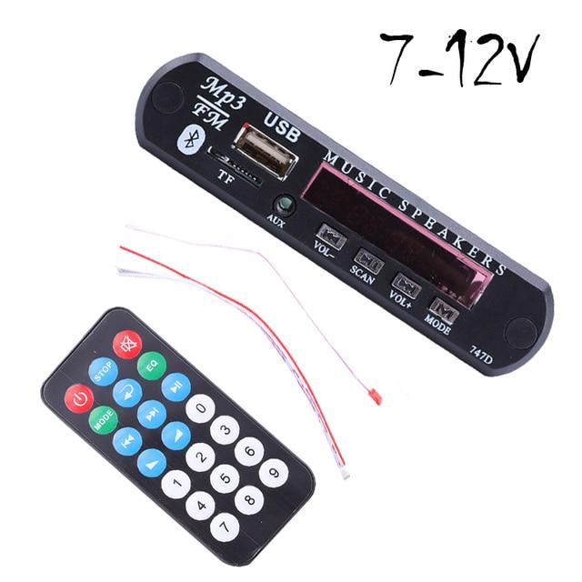 7-12 V coche USB Bluetooth MP3 WMA FM AUX decodificador de Audio módulo de apoyo TF tarjeta SD decodificador tablero con Control remoto para coche