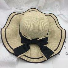 Fashion Beach Summer Straw Hat Foldable Female Big Cap Sunhat Vacation Travel Sun