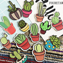 1 Piece Cute Succulents Plant Shape Simulate Green Cactus Kids Education Fridge Magnets Souvenir Magnetic Stickers