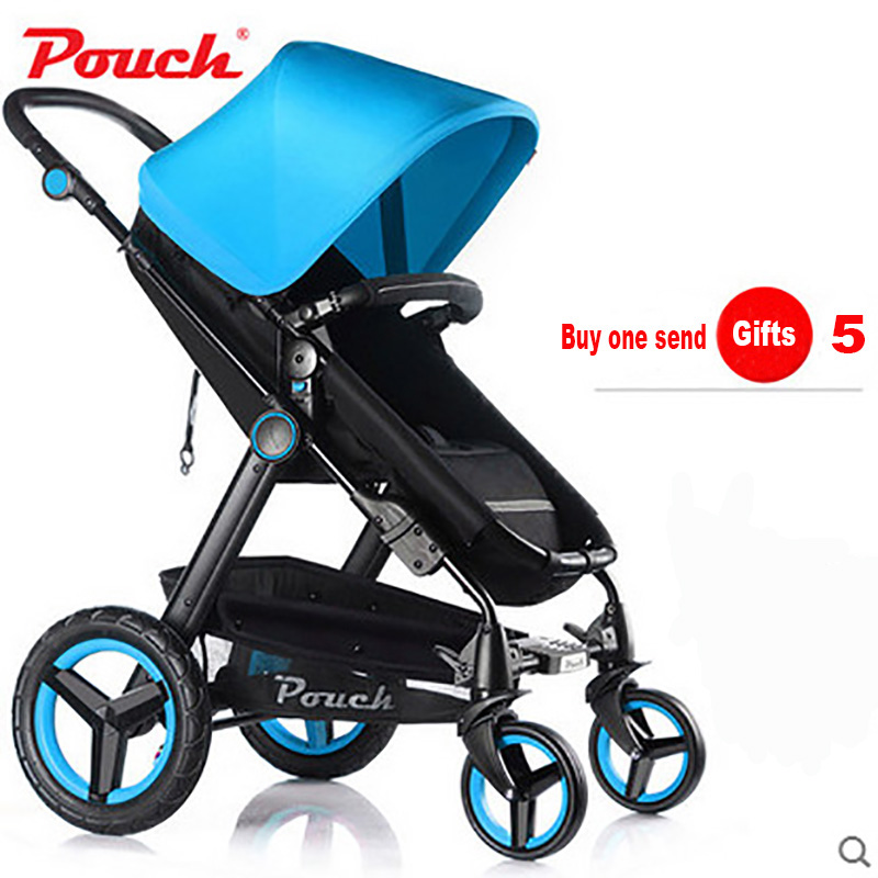 все цены на Pouch baby stroller high landscape can sit and lie the shock BB car baby two-way portable folding trolley for children