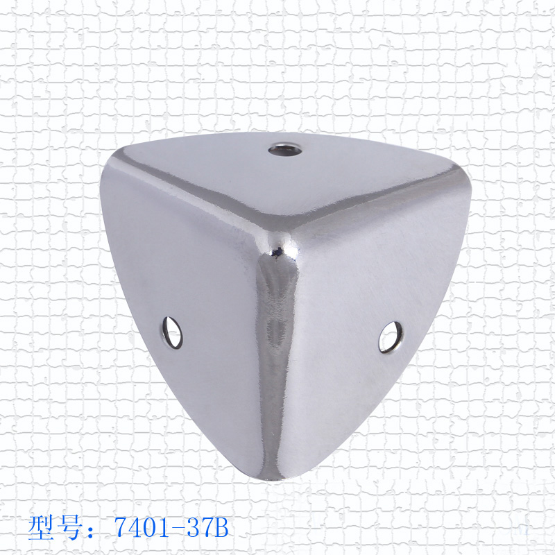 Free Shipping Wholesale 35mm Aluminum Box Cosmetics Cases Suitcase Angle Iron Purses Chrome Silver Protection Angle Code Bags Co