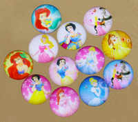 10mm 12mm 14mm 16mm Beautiful Cartoon Princess Ellipse Handmade Photo Glass Cabochons & Dome DIY Handmade Cabochon bead For Girl