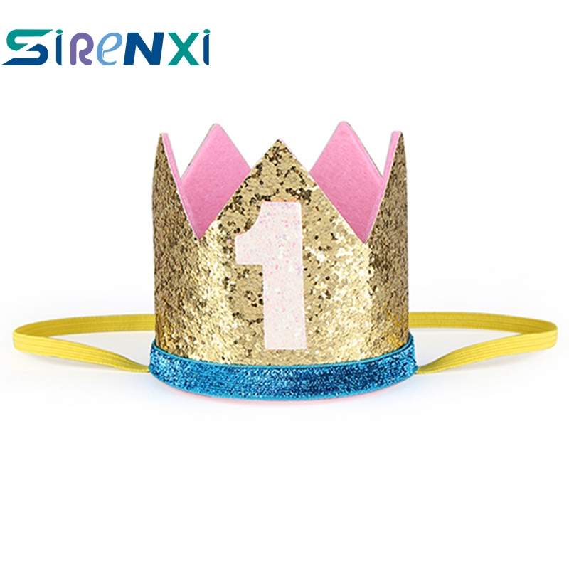 Accessories Constructive Sirenxi Fashion 1 Year Princess Hat Crown Headband Headwear Ornament Baby Boys Girls Birthday Party Decoration Hair Bands Gift