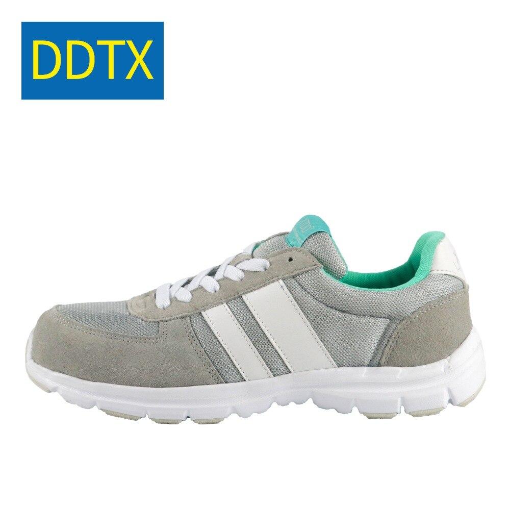 Véritable Bout Léger Sneakers De Gray Cuir Ddtx En Travail Sécurité Bottes Chaussures Hommes Respirant Acier Et Pour 1lcFKTJ