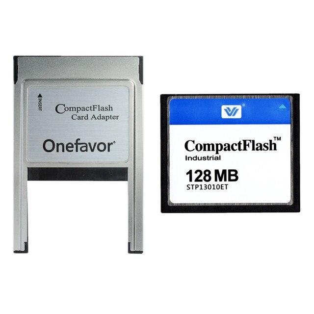 10 шт./лот 128 МБ 256 МБ 512 МБ 1 Гб 2 ГБ 4 ГБ компактная флеш карта, промышленная CF карта памяти с адаптером PCMCIA Type II и Type I
