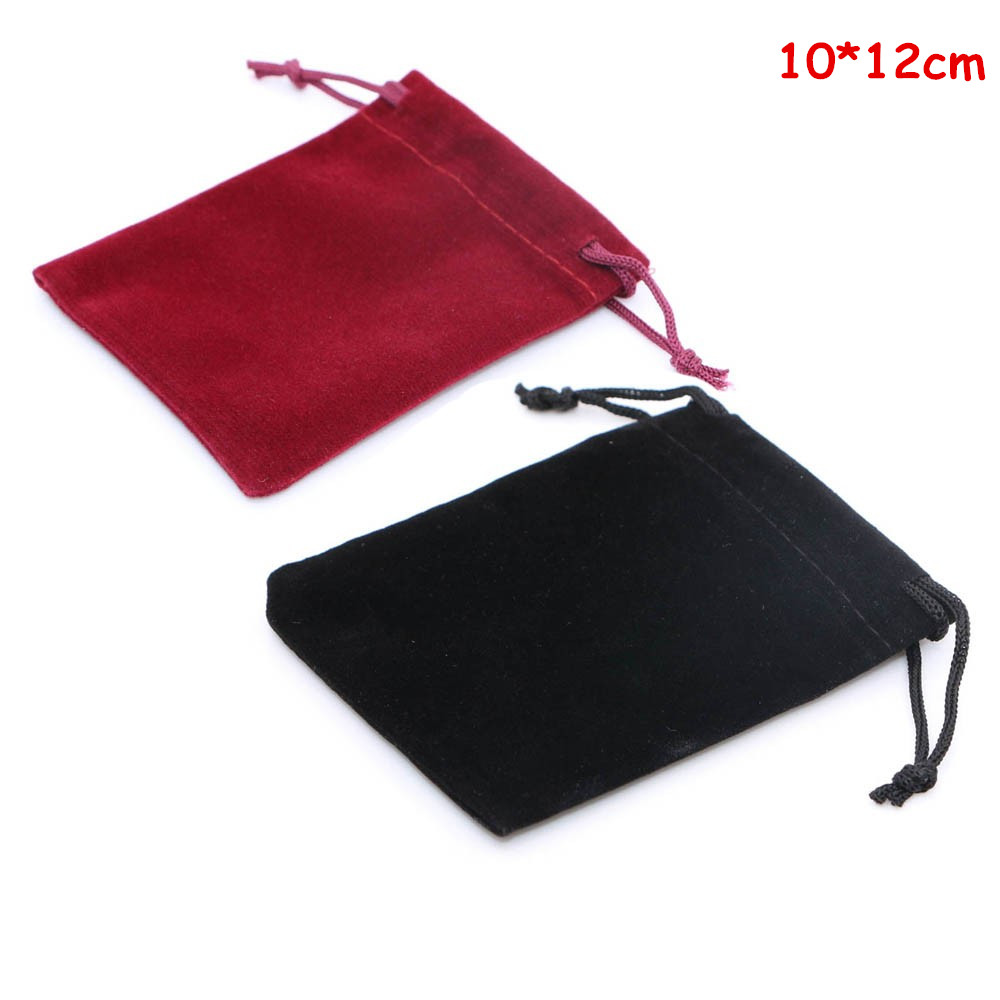 Drawstring 1 PCS Red Velvet Pouch Bag 12 cm x 10 cm Coin Jewellery Gift