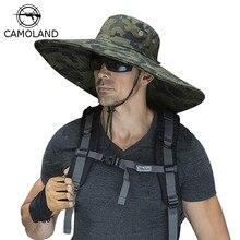 16cm 긴 와이드 브림 태양 모자 통풍 사파리 모자 남자 여자 Boonie 모자 여름 UV 보호 모자 하이킹 낚시 양동이 모자 비치